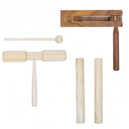 3-dílná perkusní sada | dřevěná