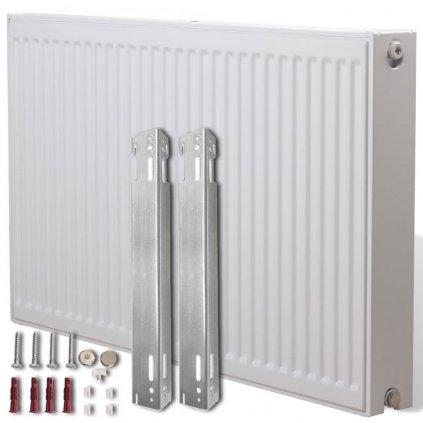 Dvoudeskový radiátor s bočním připojením - bílý | 120x10x60 cm