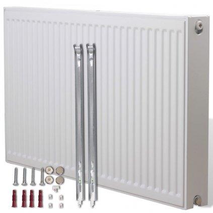 Dvoudeskový radiátor pro spodní připojení - bílý | 120x10x60 cm
