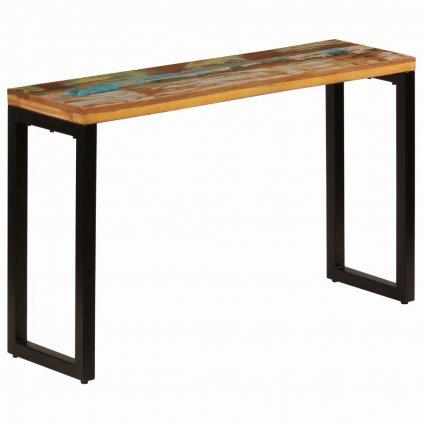 Konzolový stolek - masivní recyklované dřevo a ocel | 120x35x76 cm