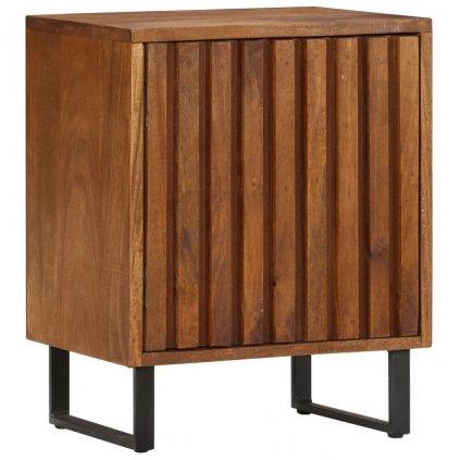 Noční stolek - masivní mangovníkové dřevo | 40x30x50 cm