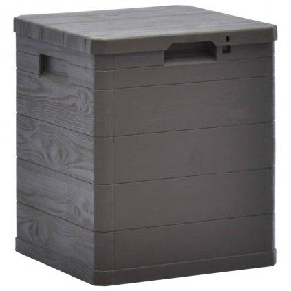 Zahradní úložný box - 90 l | hnědý
