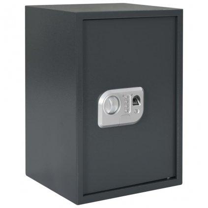 Digitální trezor na otisk prstu - tmavě šedý | 35x31x50 cm