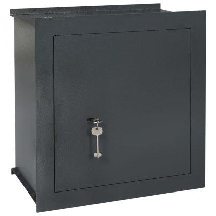 Trezor do zdi - tmavě šedý | 42x24x42,6 cm