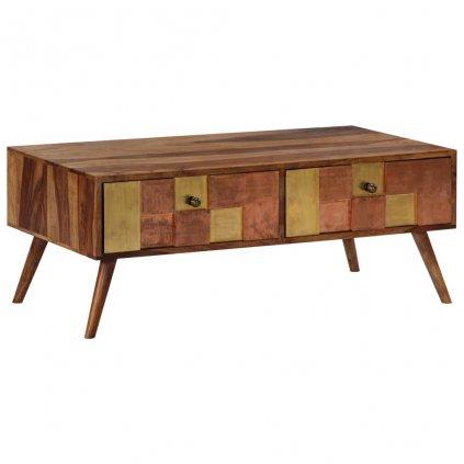 Konferenční stolek - masivní sheesham   110x50x39 cm