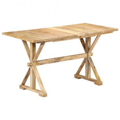 Jídelní stůl - masivní mangovníkové dřevo | 118x58x76 cm