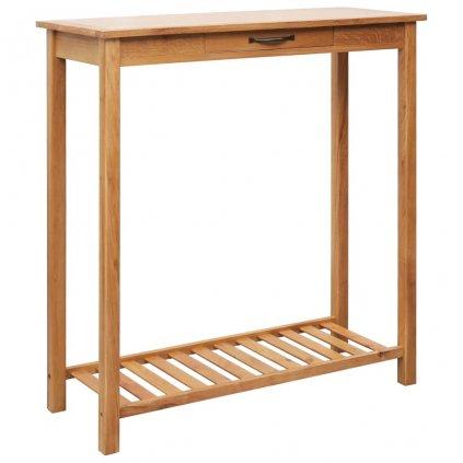 Barový stůl - masivní dubové dřevo | 100x40x110 cm