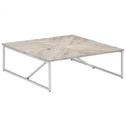 Konferenční stolek - masivní mangovníkové dřevo | 110x110x36 cm