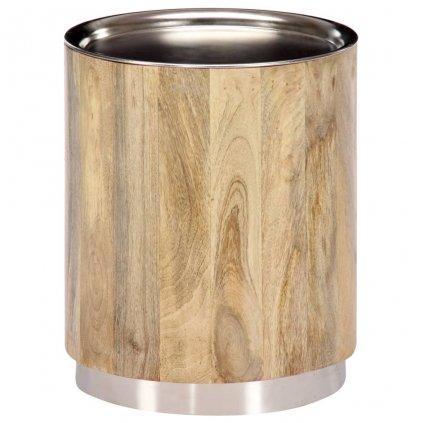Konferenční stolek - masivní mangovníkové dřevo | 38x45 cm