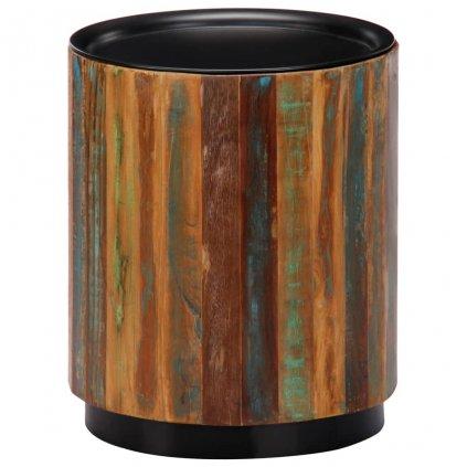Konferenční stolek - masivní recyklované dřevo   38x45 cm