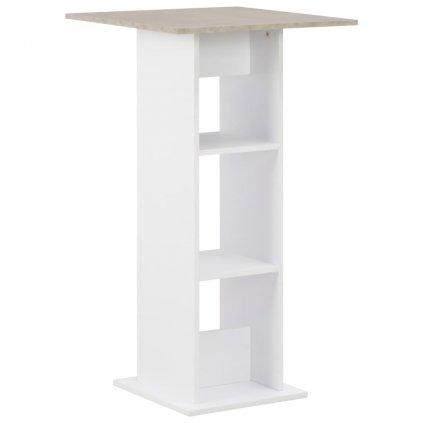 Barový stůl - bílý | 60x60x110 cm