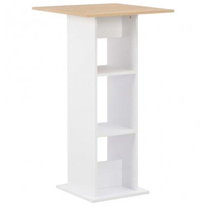 Barový stůl Hessen - bílý | 60x60x110 cm