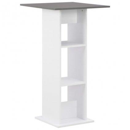 Barový stůl Edge - bílý | 60x60x110 cm