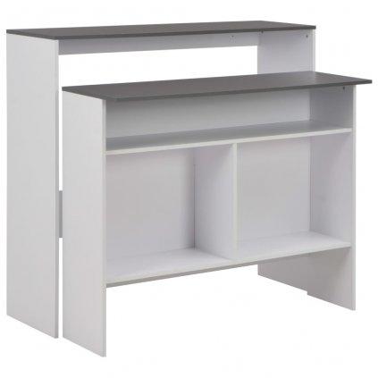 Barový stůl Purple se 2 stolními deskami - bílý | 130x40x120 cm