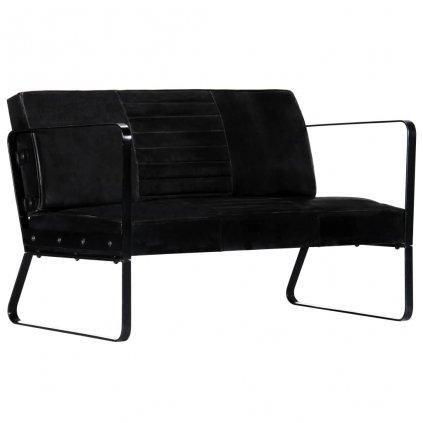 2-místná sedačka - pravá kůže   černá