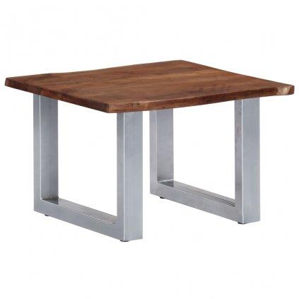 Konferenční stolek - akáciové dřevo a železo | 60x60x40 cm