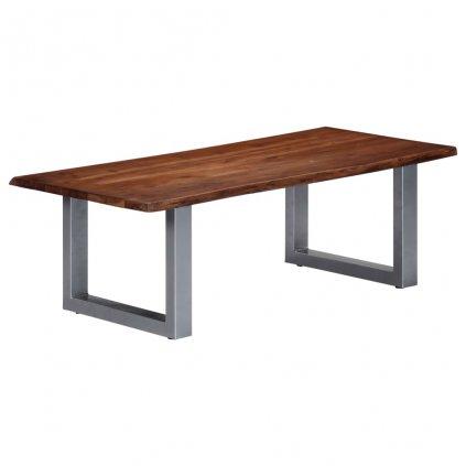 Konferenční stolek - akáciové dřevo a železo | 115x60x40 cm