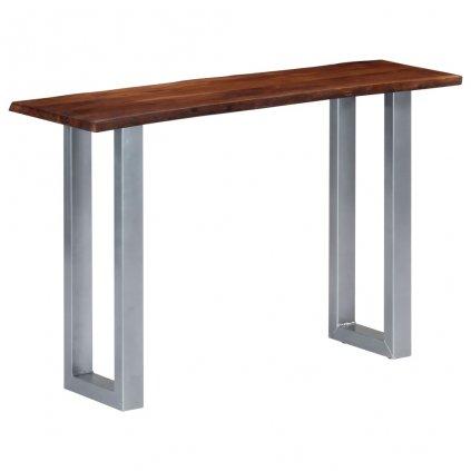 Konzolový stolek - akáciové dřevo a železo   115x35x76 cm