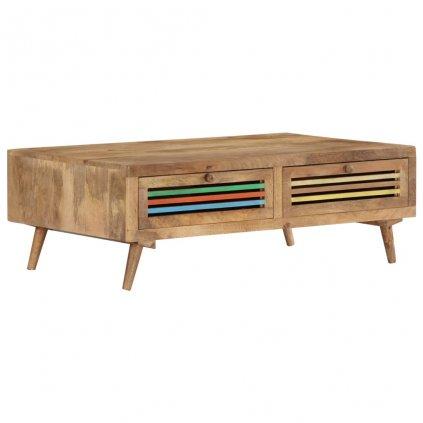 Konferenční stolek - masivní mangovníkové dřevo   100x60x30
