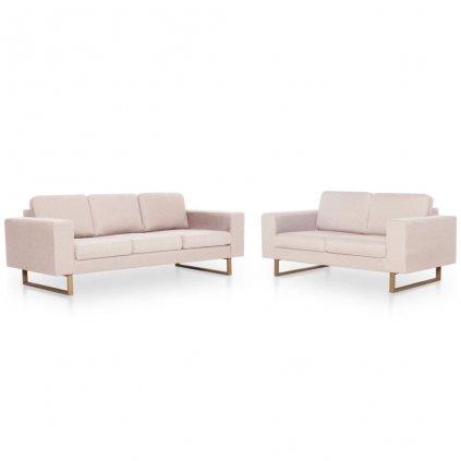 2-dílná sedací souprava Murrah - textilní | krémová