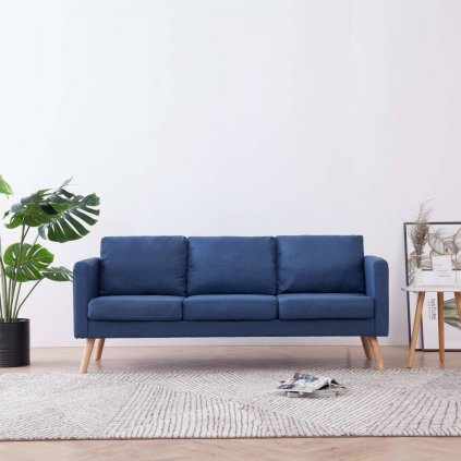 3místná pohovka - textilní čalounění | modrá