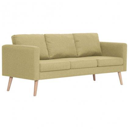 3-místná pohovka - textilní čalounění | zelená
