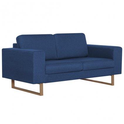 2-místná pohovka - textilní čalounění | modrá