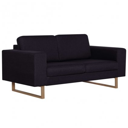 2-místná pohovka - textilní čalounění | černá