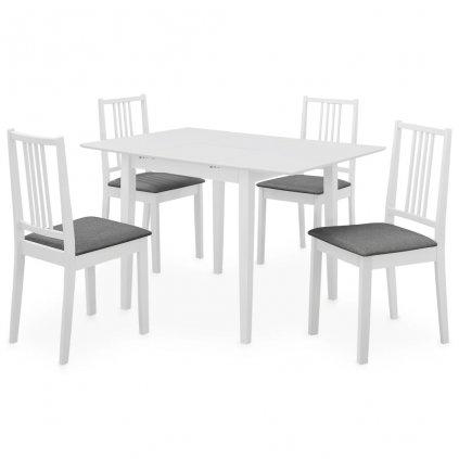 5-dílný jídelní set - MDF | bílý