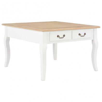 Konferenční stolek - dřevo - hnědo-bílý | 80x80x50 cm
