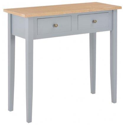 Toaletní konzolový stolek - dřevo - hnědo-šedý   79x30x74 cm