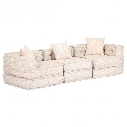 3-místná rozkládací pohovka - textil   béžová