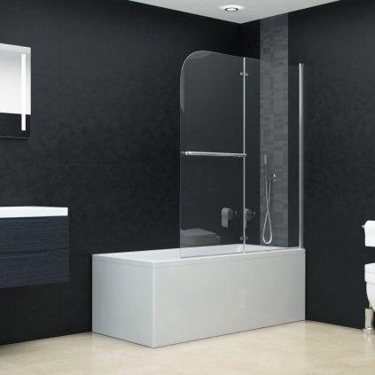 Skládací sprchový kout se 2 panely | 120x140 cm
