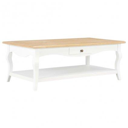 Konferenční stolek - MDF - bílý | 110x60x40 cm