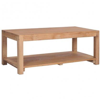 Konferenční stolek - masivní teakové dřevo | 100x50x40 cm