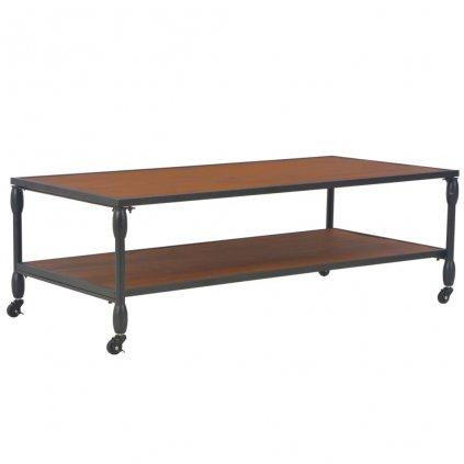Konferenční stolek s poličkou - masivní jedle | 120x60x40 cm