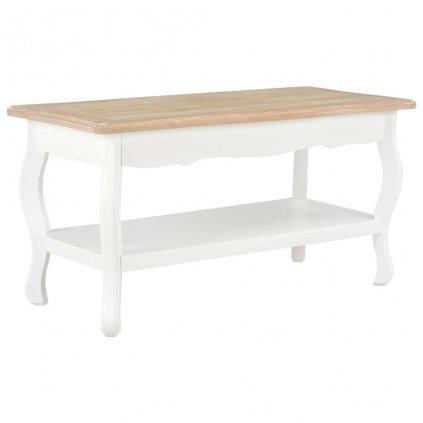 Konferenční stolek - masivní borovice - bílý a hnědý   87,5x42x44 cm