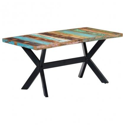 Jídelní stůl Herby - masivní recyklované dřevo   160x80x75 cm
