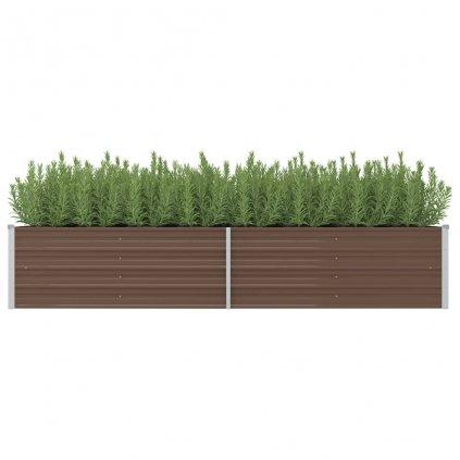 Zahradní truhlík Logan - pozinkovaná ocel | 240 x 80 x 45 cm | hnědý
