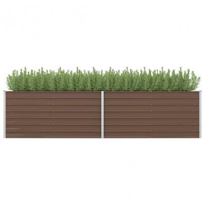Zahradní truhlík Logan - pozinkovaná ocel   320 x 80 x 77 cm   hnědý