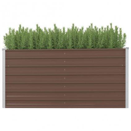 Zahradní truhlík Logan - pozinkovaná ocel | 160 x 40 x 77 cm | hnědý