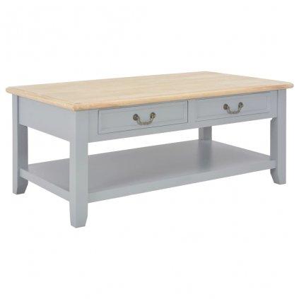 Konferenční stolek - dřevo - šedý | 100x55x40 cm