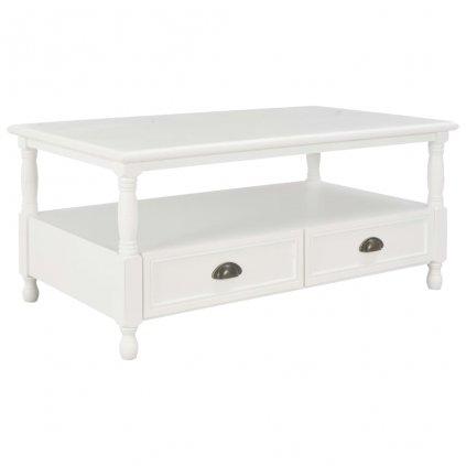 Konferenční stolek II - dřevo - bílý | 100x55x45 cm
