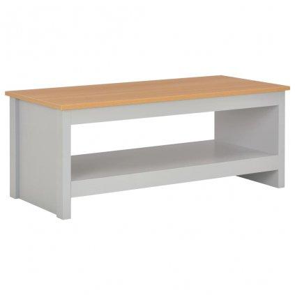 Konferenční stolek - šedý | 105x47x42 cm