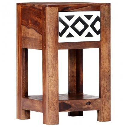 Noční stolek - masivní sheeshamové dřevo | 30x30x50 cm