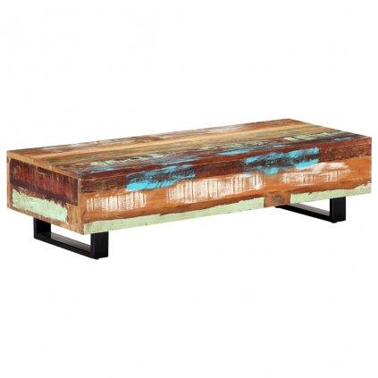 Konferenční stolek - masivní recyklované dřevo a ocel | 120x50x30cm