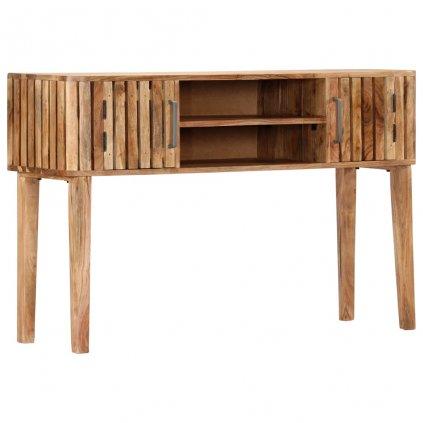 Konzolový stolek - masivní akáciové dřevo   120x35x76 cm