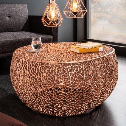 3815 konferencni stolek flem kov 80 x 41 x 80 cm medena barva