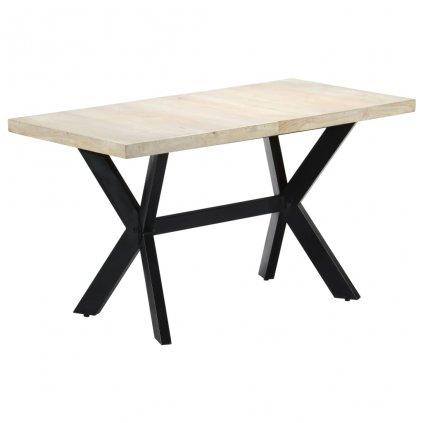 Jídelní stůl - masivní bělené mangovníkové dřevo | 140x70x75 cm