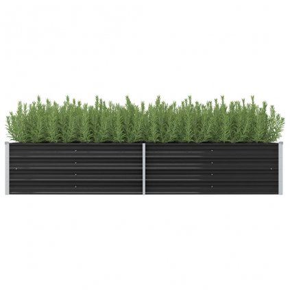 Zahradní truhlík Logan - pozinkovaná ocel | 240 x 80 x 45 cm | antracitový